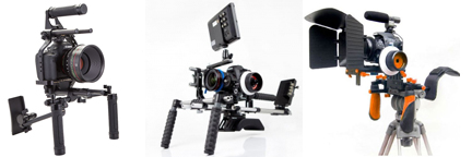 """Frankencam"" offerings available on Amazon from (l to r) Redrock Micro, Movcam and ePhoto"