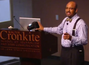 "Irby (@irbyman) addresses ASU Cronkite students at ""Must See Monday"" lecture series."